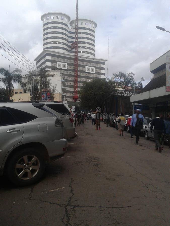 De stad van Nairobi stock foto