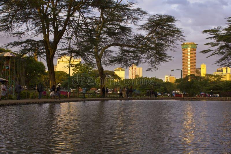 De Stad van Nairobi royalty-vrije stock foto's
