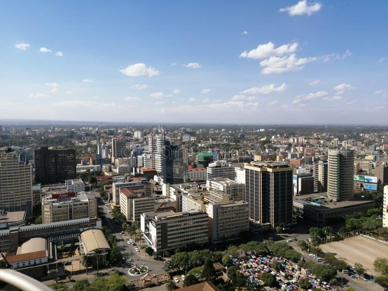 De stad van Nairobi royalty-vrije stock fotografie