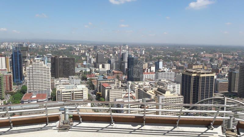 De stad van Nairobi, Kenia royalty-vrije stock foto