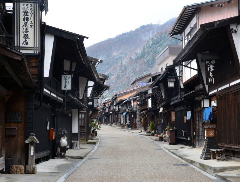 De Stad van Naraijuku in de Winter royalty-vrije stock afbeelding