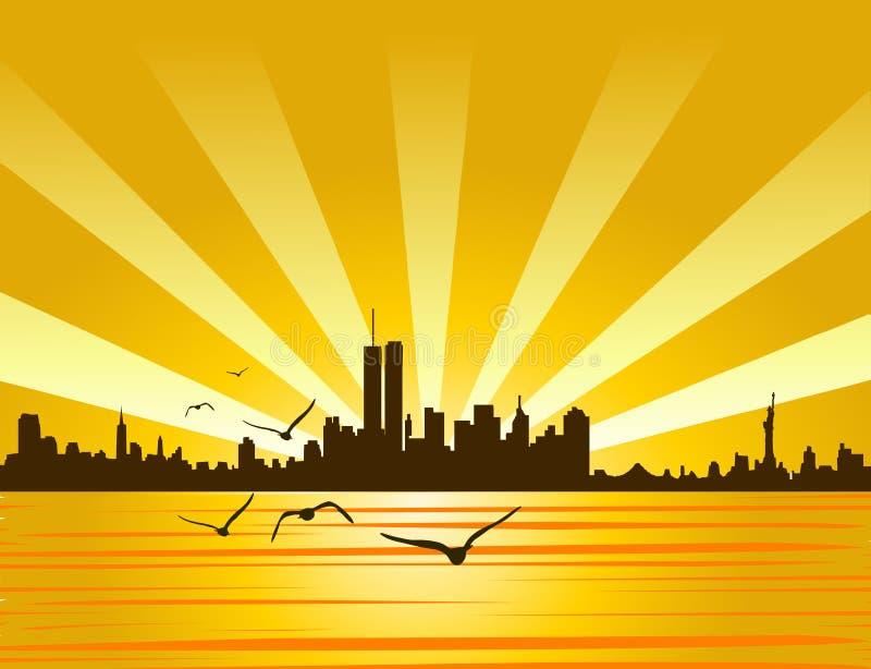 De stad van New York stock illustratie
