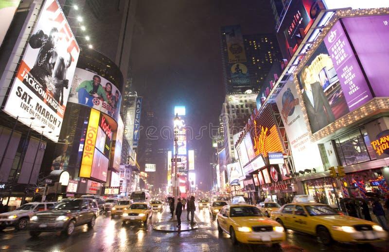 De stad van New York, Broadway royalty-vrije stock afbeeldingen