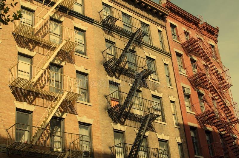 De Stad van New York De bouw Oud stijlbeeld stock foto