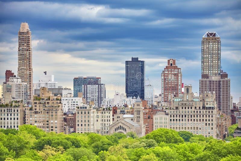 De Stad van New York, de Hogere Kant van het Oosten van Manhattan stock afbeelding