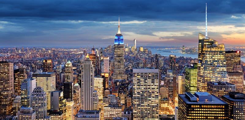 De Stad van New York, de V stock afbeelding