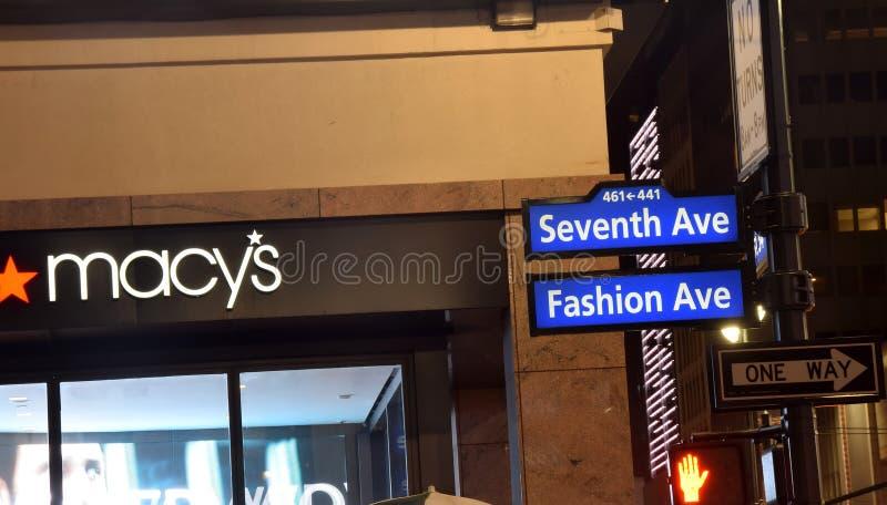De Stad van New York het Winkelen tekens royalty-vrije stock afbeeldingen