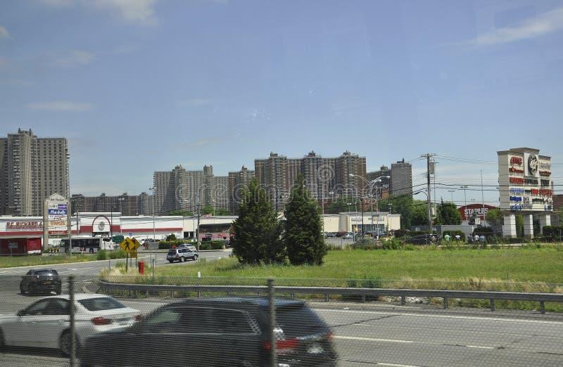 De Stad van New York, 1 Juli: Baaiplein in Bronx van de Stad van New York in Verenigde Staten stock foto's