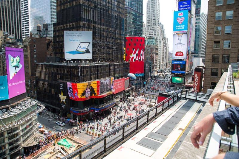 De Stad van New York 4 keer vierkant van hierboven royalty-vrije stock fotografie