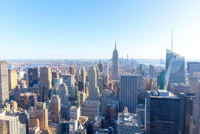 De Stad van New York Manhattan, Empire State Building stock afbeeldingen