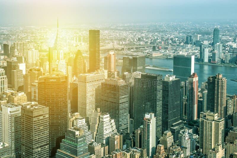 De Stad van New York, Manhattan van de bouw van de Imperiumstaat royalty-vrije stock foto