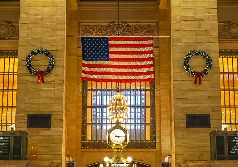 De Stad van New York, NY de V.S.: 1 december, 2018 - Grand Central Station stock foto's