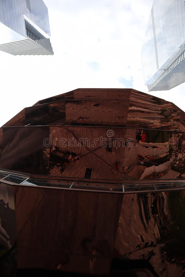 De Stad van New York, NY, de V.S. - 22 MEI, 2019: Het Schip, Hudson Yards Staircase ontwierp door architect Thomas Heatherwick Ui royalty-vrije stock afbeelding