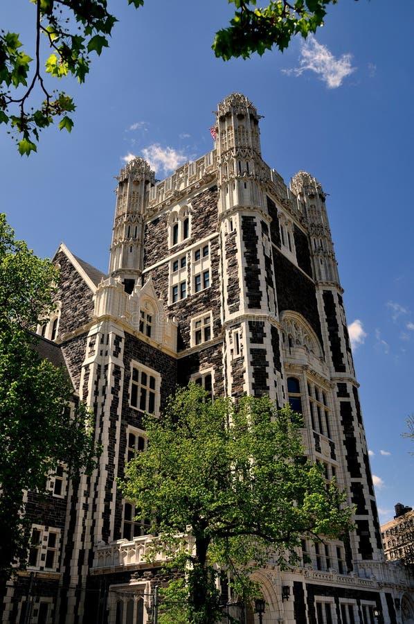 De Stad van New York: Shepard Hall bij Stadsuniversiteit stock fotografie