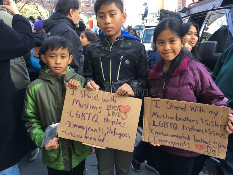 De Stad van New York; Troefprotest royalty-vrije stock afbeeldingen