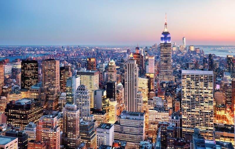 De Stad van New York, de V stock afbeeldingen