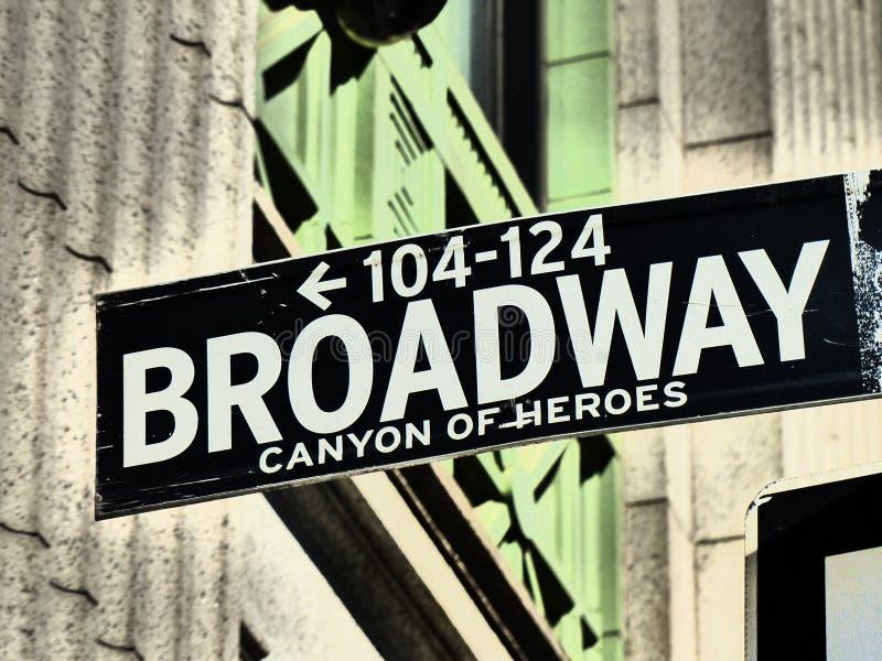 De Stad van New York van Broadway royalty-vrije stock foto