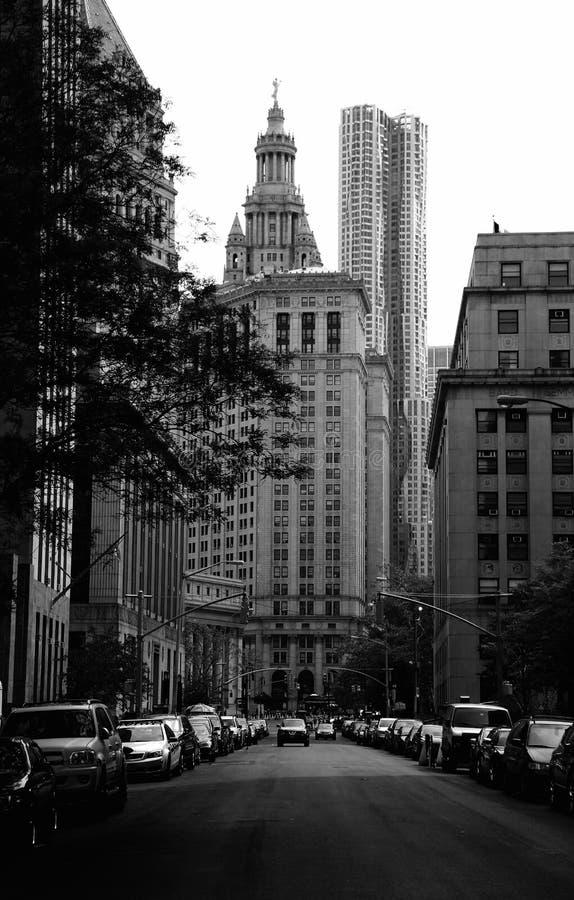 De Stad van New York van de binnenstad royalty-vrije stock afbeeldingen