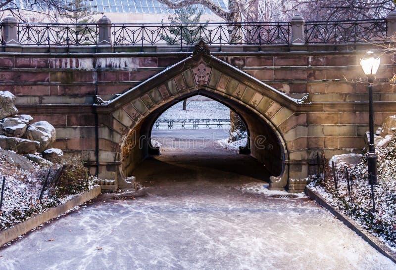 De Stad van New York van de Central Parkweg royalty-vrije stock fotografie