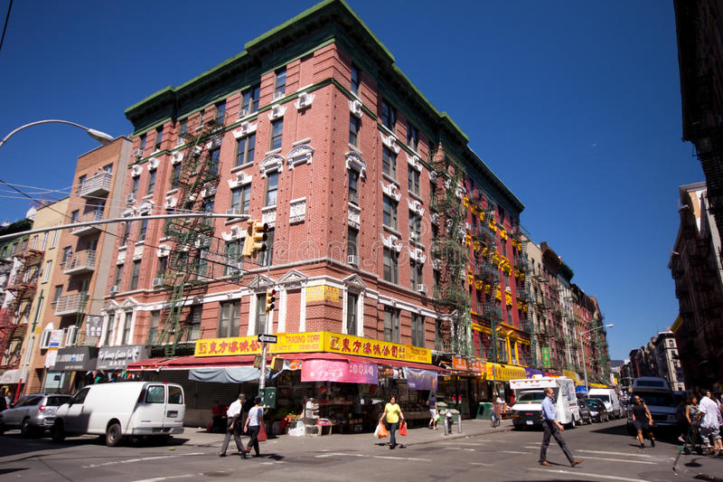 De Stad van New York van de Chinatown royalty-vrije stock afbeeldingen