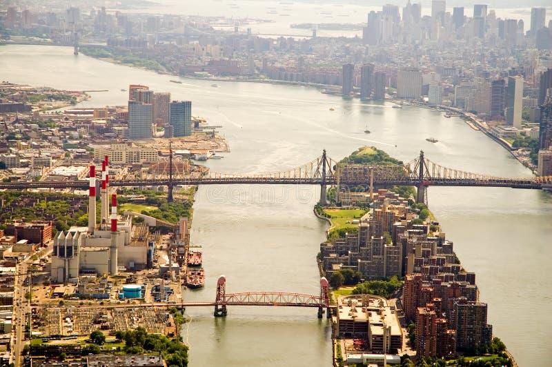 De Stad van New York van de Rivier van het oosten royalty-vrije stock afbeeldingen