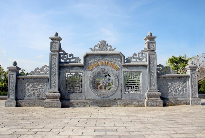 De stad van Ninhbinh stock afbeeldingen