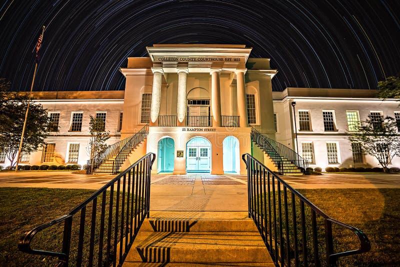 De stad van november 2016 van Walterboro-Zuid-Carolina de V.S. - Stad van w royalty-vrije stock afbeeldingen
