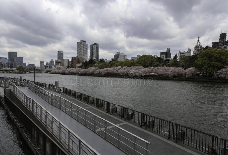 De stad van Osaka stock fotografie