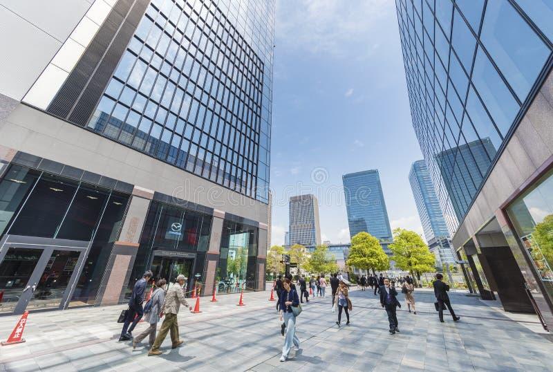 De stad van Osaka, Japan stock afbeeldingen