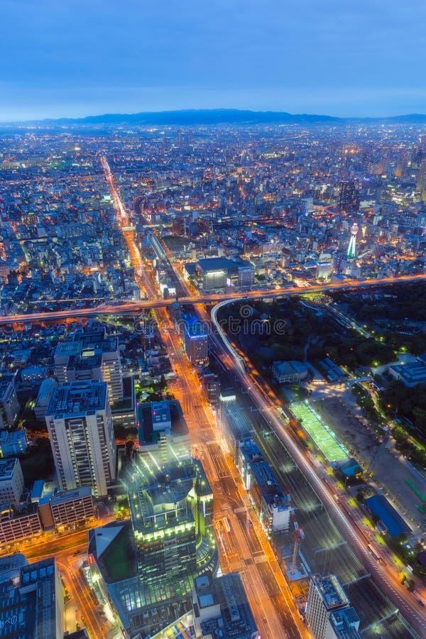 De stad van Osaka van Abeno Harukas stock foto