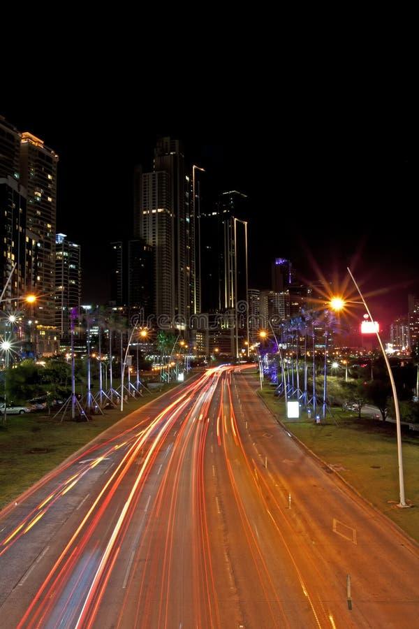 De Stad van Panama van de Balboaweg stock fotografie