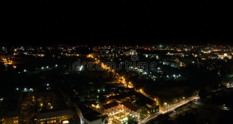 De Stad van Pattaya bij nacht. royalty-vrije stock foto