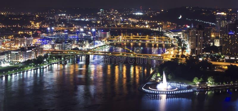 De Stad van Pittsburgh stock afbeelding