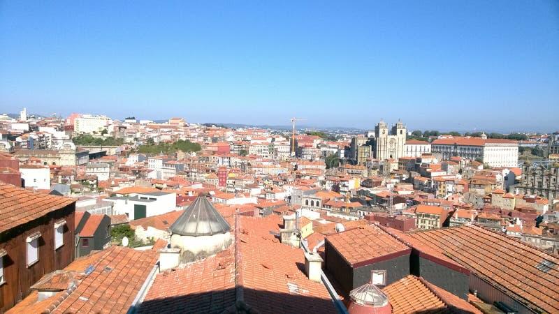 De stad van Porto stock afbeelding