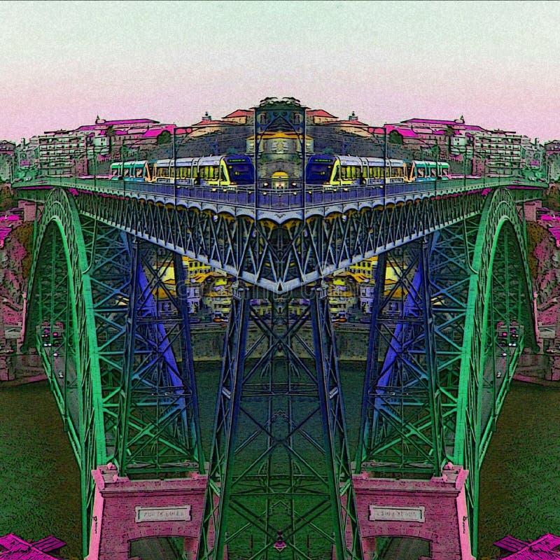 De stad van Porto De rust van de kleuren royalty-vrije stock foto
