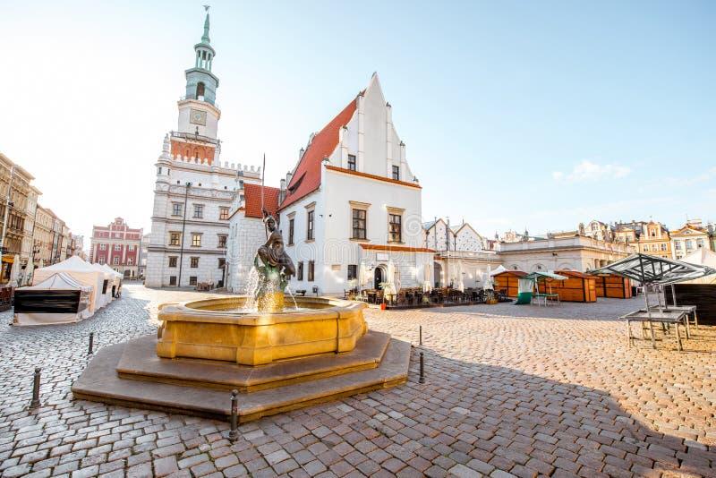 De stad van Poznan in Krakau stock afbeelding
