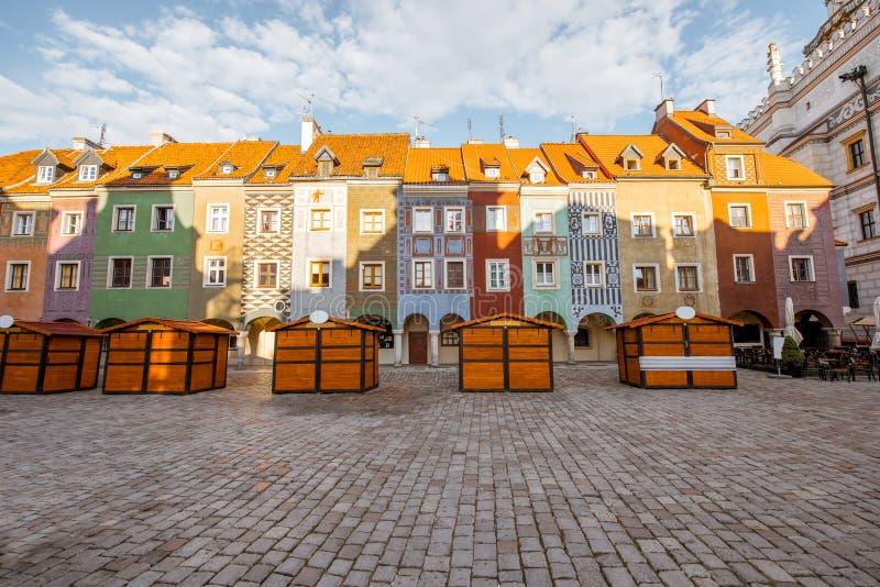 De stad van Poznan in Krakau royalty-vrije stock afbeeldingen