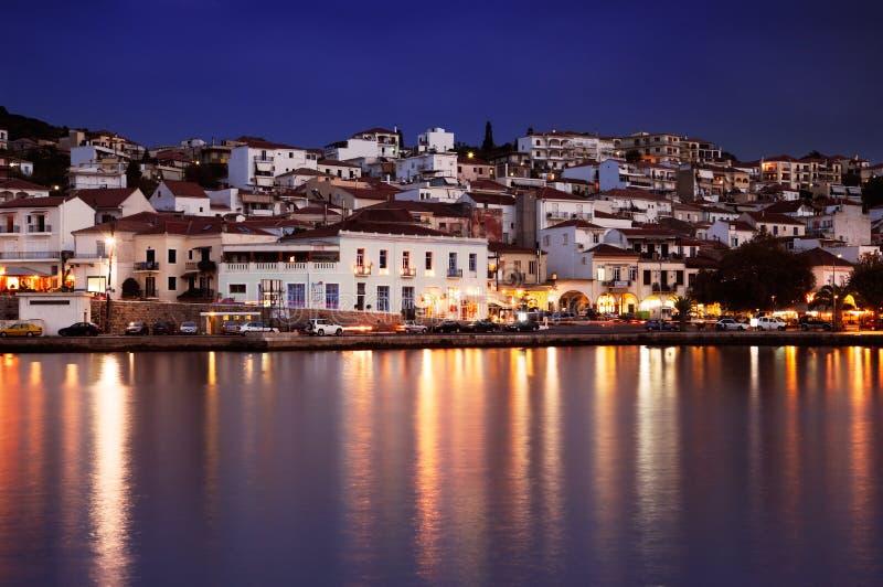 De stad van Pylos, Griekenland