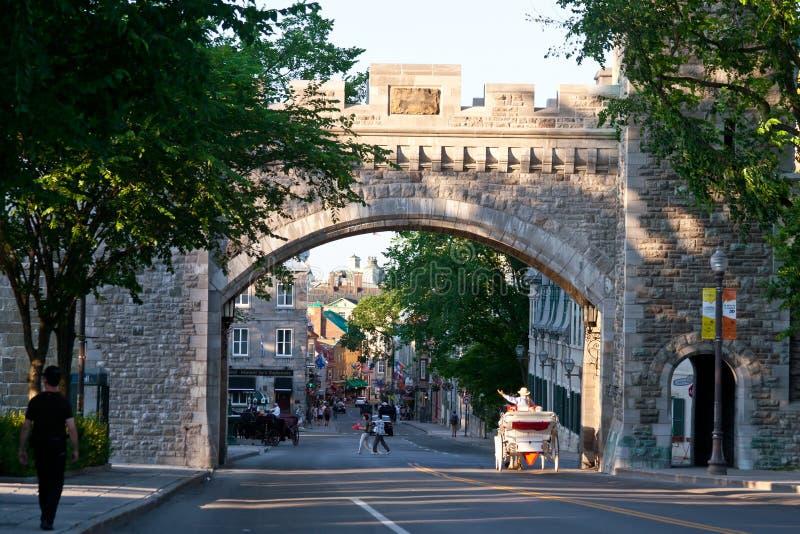 De stad van Quebec stock foto