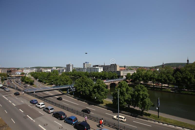 De stad van Saarbruecken in Duitsland stock afbeelding