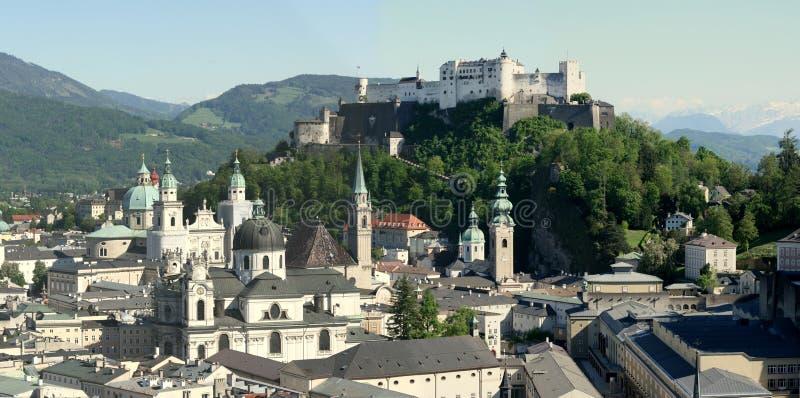 De stad van Salzburg royalty-vrije stock foto