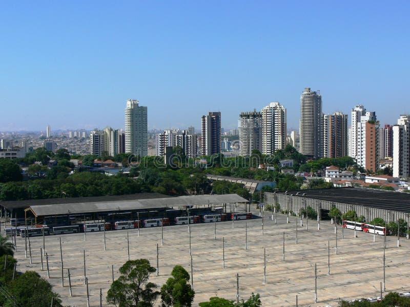 De stad van Sao Paulo stock afbeelding