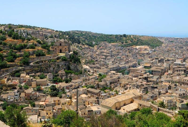 De Stad van Scicli stock afbeelding