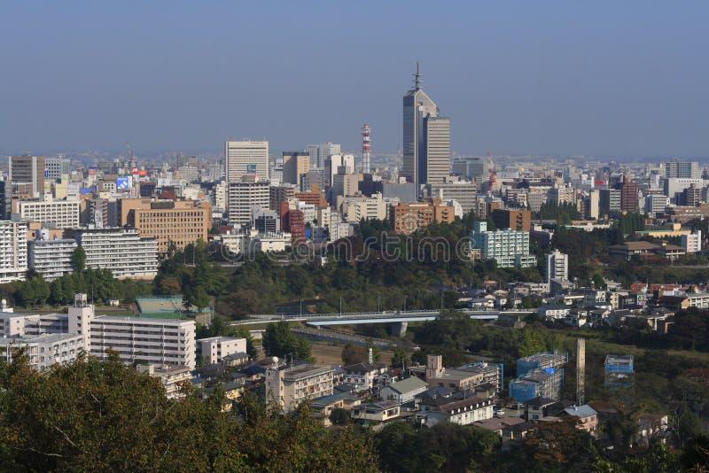 De stad van Sendai stock afbeelding