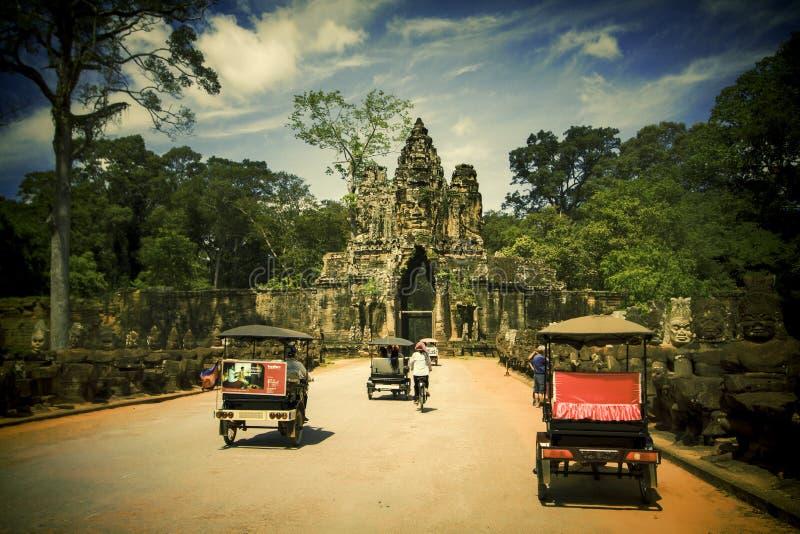 De stad in van Siem oogst, Kambodja stock foto's