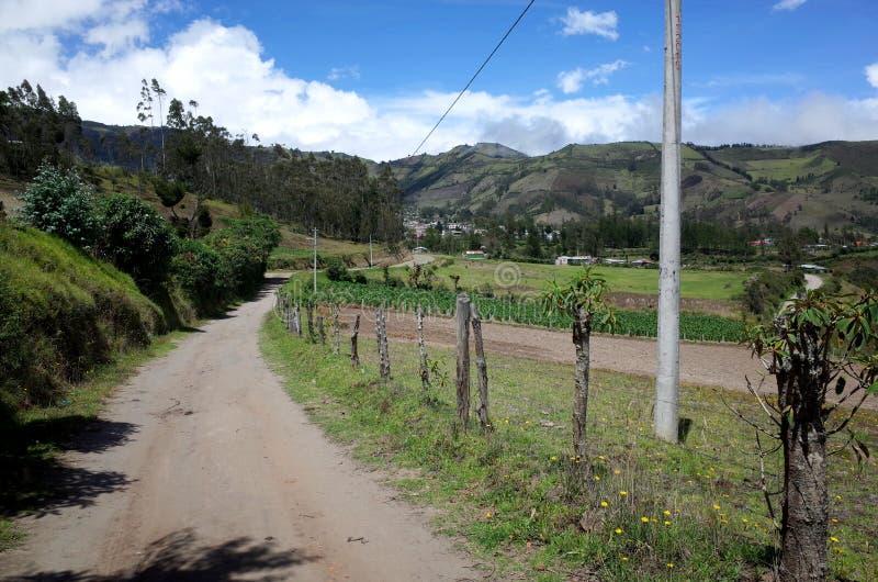 De stad van Sigchos die door op de Quilotoa-Lijn wordt overgegaan royalty-vrije stock foto's