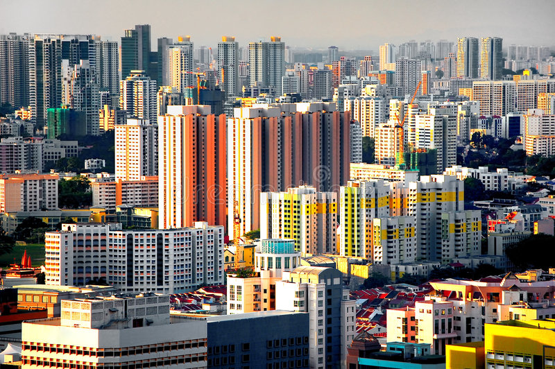 De Stad van Singapore stock fotografie