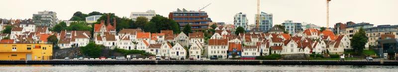 De stad van Stavanger stock afbeeldingen