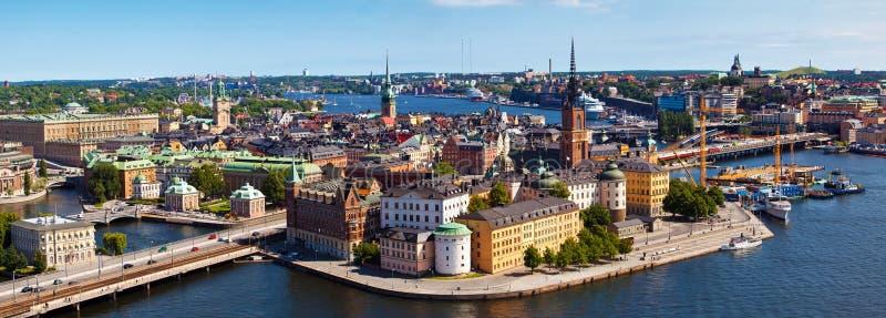 De stad van Stockholm in Zweden stock afbeelding