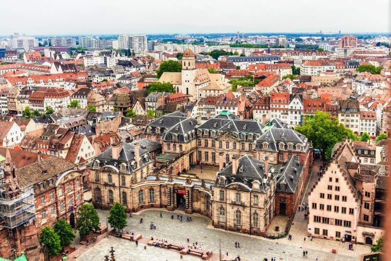 De stad van Straatsburg stock foto's